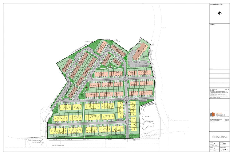 Condominium Townhome Concept Plan 1