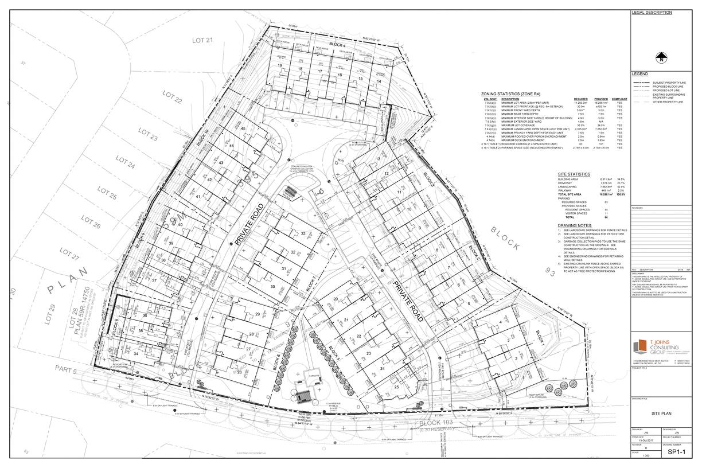 Condominium Townhome Site Plan