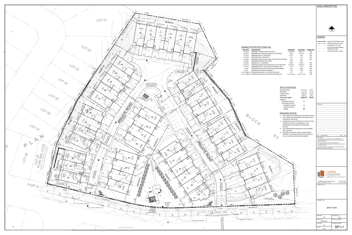 Condominium Townhome Site Plan